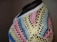 Ready to ship /GORGEOUS Handmade Hand crochet Pastel by ufer, $100.00