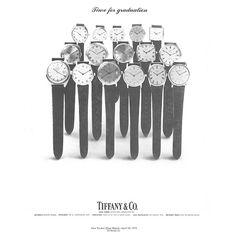 A Tiffany graduation gift ad from Jewelry Ads, Graduation Gifts, Bangle Bracelets, Bobby Pins, Tiffany, Hair Accessories, Bracelets, Bangle Bracelet, Hairpin