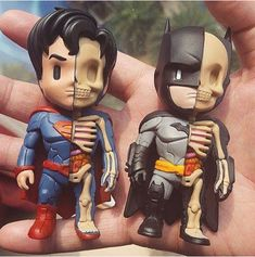 TOYSREVIL: XXRAY by Mighty Jaxx: Colored Dissected Batman & Superman, and STGCC Display Debut