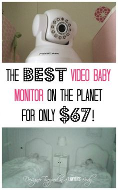 THIS IS AWESOME!  The best and cheapest DIY video baby monitor!  Come see all the details at Designer Trapped in a Lawyer's Body.
