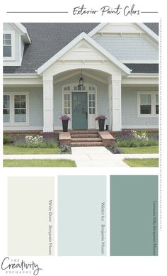 Exterior House Paint Combinations Lovely How to Choose the Right Exterior Paint Colors Exterior Paint Color Combinations, House Paint Color Combination, Exterior Paint Colors For House, Paint Colors For Home, Outdoor Paint Colors, Exterior Paint Schemes, House Color Combinations, Outdoor House Colors, Outside House Paint Colors
