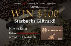 Win a $100 Starbucks gift card! http://dragoncontest.com/giveaways/100-tea-and-coffee-giftcard-giveaway/?lucky=351 2/12