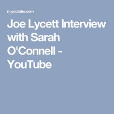Joe Lycett Interview with Sarah O'Connell - YouTube