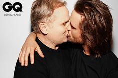 """""""Dabei küsse ich zum ersten Mal in meinem Leben einen Mann"""", sagt Grönemeyer. #Mundpropaganda - Gentlemen gegen Homophobie ist eine Aktion v..."""