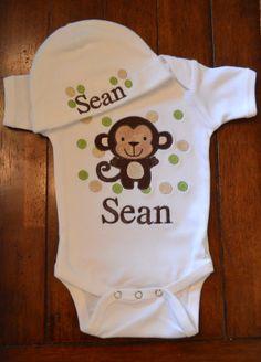 bb672df84c27 Baby Monkey suit for my new baby nephew