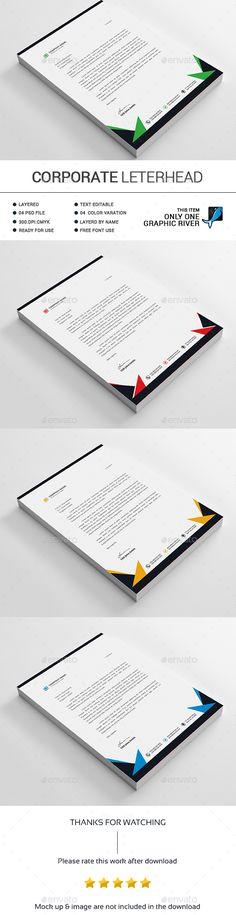 Letterhead Design A4 Template PSD Letterhead Design Templates - psd letterhead template