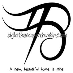 """A new, beautiful home is mine"" sigil Sigil requests are closed. Sigil Magic, Magic Symbols, Magick Spells, Witchcraft, Pagan Witch, Witches, Protection Sigils, Alphabet Symbols, Paranormal"