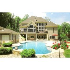 Luxury Mansion Home Plans and Designs / Archival Designs found on Polyvore