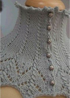 Knitting cowl patterns free neck warmer 59 ideas for 2019 Poncho, Cowl Scarf, Knit Cowl, Knitted Shawls, Knitting Charts, Knitting Patterns Free, Knit Patterns, Free Pattern, Vintage Knitting