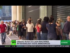 Greferendum looms: Greeks rush to ATMs, EU saddened, closes door - Soon coming to America with the TTP