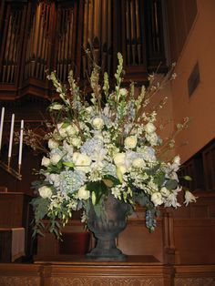 church flowers for the wedding ceremony