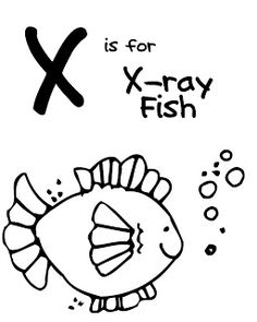 Letter X Coloring Book - Free Printable Pages | Book letters ...