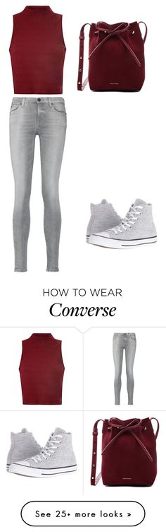 """""""Untitled #171"""" by safireblue23 on Polyvore featuring Glamorous, 7 For All Mankind, Mansur Gavriel and Converse"""