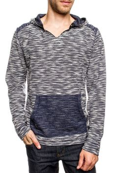 This Pullover has all the fashion and comfort you Need ! Check out all the colors ! Long Sleeve Pullover in Novelty Yarn with contrast Shoulder and Kangaroo Poc Alexa Skills, Men Sweater, Pullover, Long Sleeve, Sweaters, Cotton, How To Wear, Shopping, Style