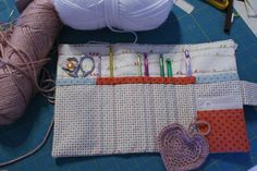 Cute pattern for a crochet hook holder!