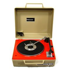 Portable Record Player, $247, now featured on Fab.