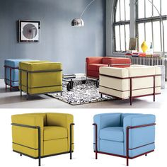 if you like color, you're in luck because DWR just added Le Corbusier in new colors to their Cassina lineup.