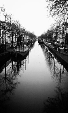 Beautiful canal in The Haag. Photo available to buy in frame or on canvas at:  exclusiveart.my-free.website