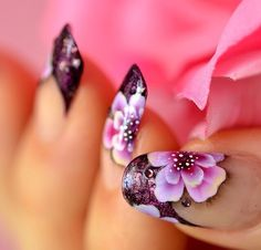 """Flower power  #nails #fashion #funfashion #nailart #naillacquer #colour #color #polish #cosmetics #charities #causes  #beauty #opi #essie #chinaglaze #zoya #nailpolish #gossip #colourgossip #colourgossipnails #dailynailart #colourgossippolish #Manicure #dontjustwearacolorwearacause COLOUR GOSSIP... """"WHERE ITS GOOD TO LOVE GOSSIP""""!  COLOUR yourself in Gossip !!!!"""