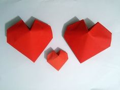 Valentine message. Origami Heart. You are looking for ideas for Valentine's Day? This heart-shaped envelope it might be something for you! Open and inside yo...