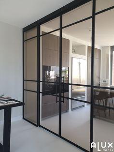 Dream Home Design, House Design, Kitchen Sliding Doors, Family Office, Patio Doors, Living Room Interior, New Homes, Glass Doors, Inspiration
