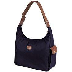 Authentic Longchamp Le pliage Hobo Bag Navy Longchamp Outlet b1709d962ee3f