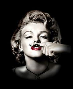 Marilyn Mustache Disguise Art Print by Rk2design