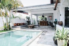 my scandinavian home: Exotic meets boho in a Bali pool villa Outdoor Rooms, Outdoor Living, Indoor Outdoor, Outdoor Bathrooms, Outdoor Lounge, Moderne Pools, Patio Interior, Interior Modern, Small Pools
