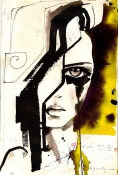 Sad face by Marcela Gutiérrez    How I feel sometimes!  BROKEN