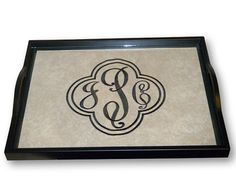 Monogrammed Serving Tray by MonogramsEtcNC on Etsy, $40.00