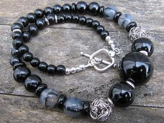 Chunky & Spunky - Weezie World Black Accents, Silver Beads, Antique Silver, Jewelry Making, Beaded Bracelets, Antiques, Beautiful, Jewerly, Antiquities