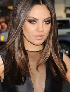 mila kunis hair and makeup