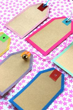 Washi and masking tape tags DIY