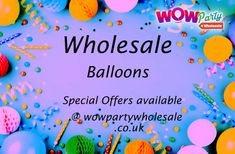 Find all your wholesale Balloon accessories here. Our come in all shapes and sizes to create a fun in your parties @ low cost Wholesale Balloons, Helium Balloons, Birthday Balloons, Party Favors, Parties, Shapes, Create, Fun, Accessories