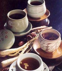 Korean traditional teas.