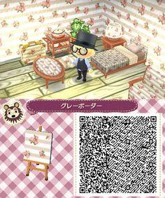 Animal Crossing Hhd Light Wooden Floor Qr Code Animal C