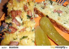 Zapečené těstoviny v domácí pekárně recept - TopRecepty.cz Hawaiian Pizza, Food And Drink, Lasagna