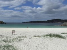 I've been to lots of nice beaches abroad. My favourite is Achmelvich Beach, North West Scotland. We were camping next to it and in the morning dolphins came in to the bay to play. A magical moment.