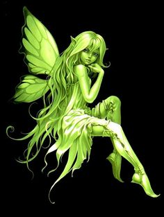 green fairy Absinthe to cover by butterfly and fix my ankle tattoo.