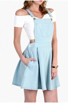 OMG OVERALL DRESS - LIGHT DENIM