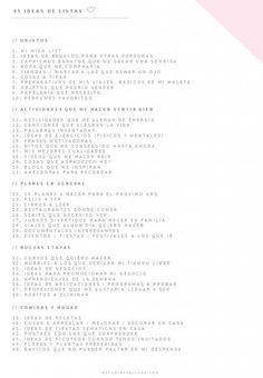 45 listas de cosas creativas :)