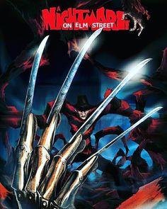 A Nightmare on Elm Street Slasher Movies, Horror Movie Characters, Horror Movie Posters, Horror Icons, Horror Films, Horror Stories, Freddy Krueger, Badass Movie, Arte Horror