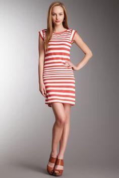 Marissa Stripe Cap Sleeve Dress