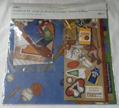 """$12.98/FREE SHIPPING in the USA; global shipping available Scrapbook Kit 12"""" x 12"""" SPORTS THEMED Photo memories paper crafting NEW IN PACKAGE ~ see more crafting, rubber stamps & supplies at: https://www.etsy.com/shop/ShellysSweetFinds?ref=l2-shopheader-name"""