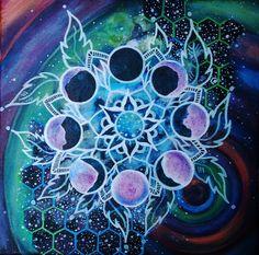 Moon Phase Mandala by morganmikula on Etsy https://www.etsy.com/listing/235647970/moon-phase-mandala