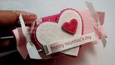 Stampin' Up!  Candy Wrapper  Carrie Gaskin  Valentine Heart