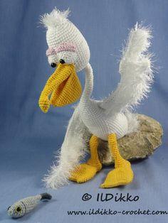 Pablo The Pelican Amigurumi Pattern