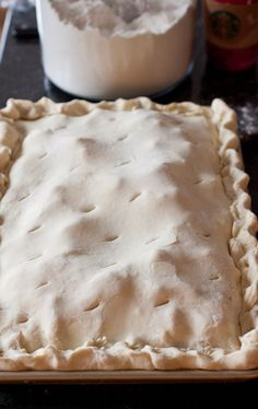 Apple Slab Pie - Pinner: this is about the closest I've found to the family recipe my MIL gave me for what they always called apple cobbler. Apple Desserts, Apple Recipes, Just Desserts, Fall Recipes, Holiday Recipes, Delicious Desserts, Yummy Food, Desserts For A Crowd, Classic Desserts