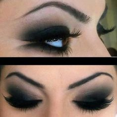 Black Smokey Eyeshadow How to apply black eye shadow