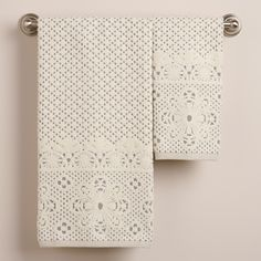 Lattice Sculpted Bath Towel Collection   World Market